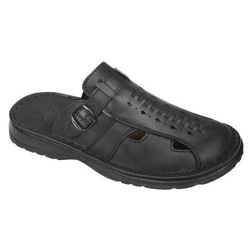 Łukbut Klapki buty 965 czarne - czarny