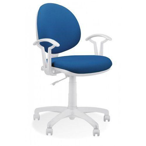 Krzesło obrotowe smart white gtp27 ts02 - biurowe, fotel biurowy, obrotowy marki Nowy styl