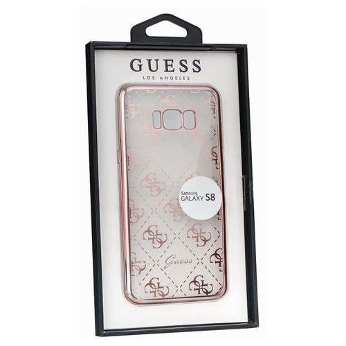 Guess GUHCS8TR4GRG Samsung Galaxy S8 (przeźroczysty-różowo/złoty) - produkt w magazynie - szybka wysyłka!, GUHCS8TR4GRG