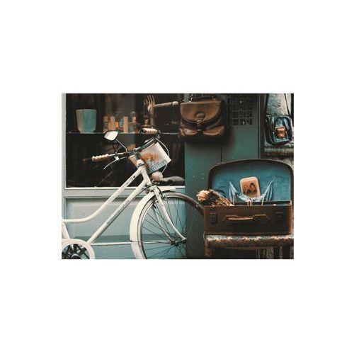 Consalnet Obraz na pilśni biały rower 100 x 70 cm