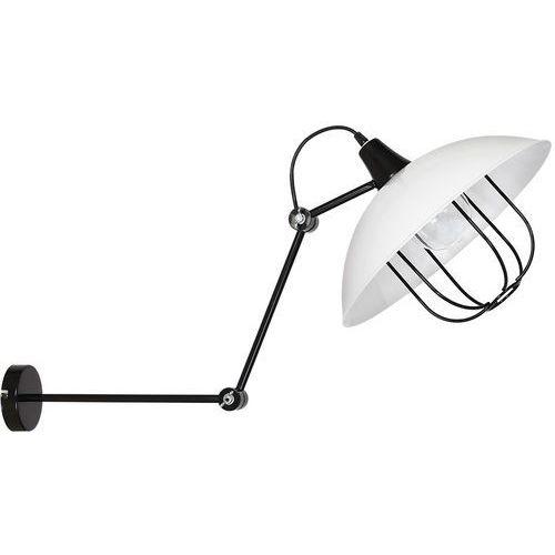 Nowoczesna lampa industrialna kinkiet lampa ścienna Aldex Danton III 1x60W E27 czarny / biały 908C (5904798642471)