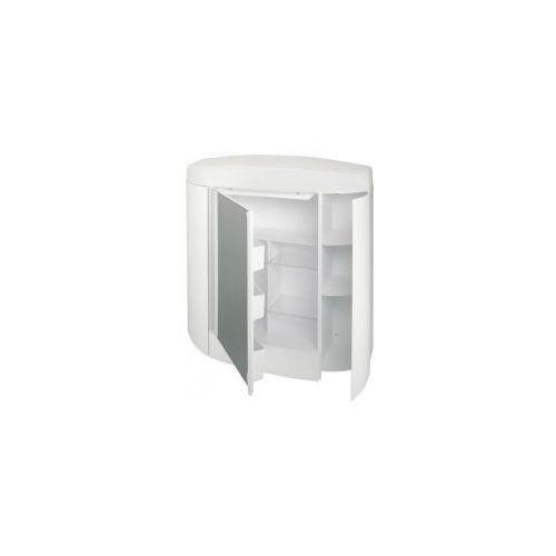 Bisk szafka lustrzana 620x630mm, biała 94102