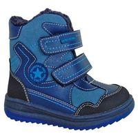 buty zimowe za kostkę chłopięce riki 23 niebieski marki Protetika