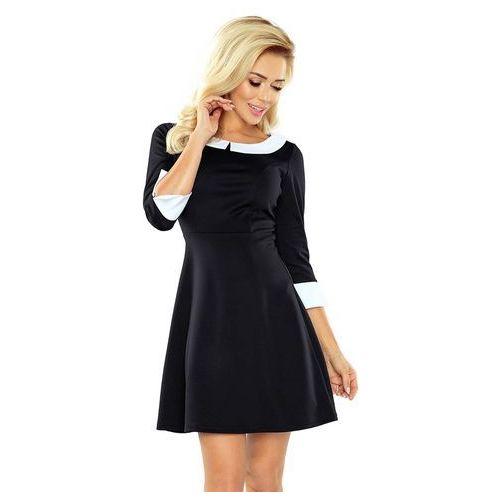 Czarna Sukienka z Białym Kołnierzykiem Bebe, C162-1bl