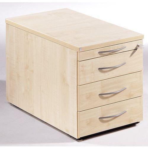 Thea - kontener na kółkach, szuflada na przybory, 3 szuflady na dokumenty, imit. marki Fm büromöbel