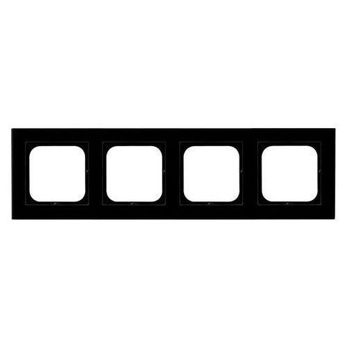 Ospel Ramka 4-krotna czarne szkło gr 6mm r-4rg/32 sonata (5907577451028)