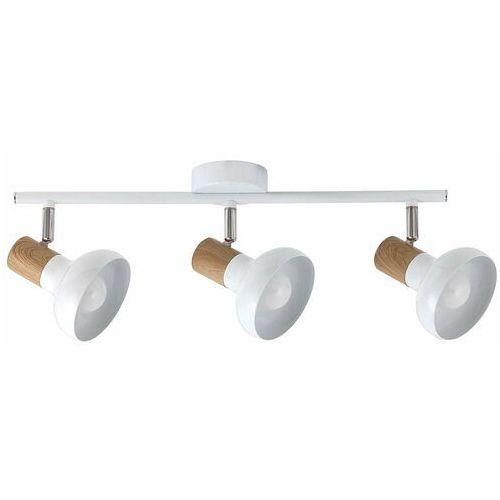 Listwa Rabalux Holly 5945 lampa sufitowa 3x40W E14 biały/brązowy (5998250359458)