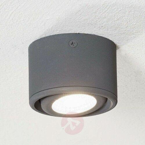 Odchylana głowica – downlight LED Anzio, antracyt, 22527419901