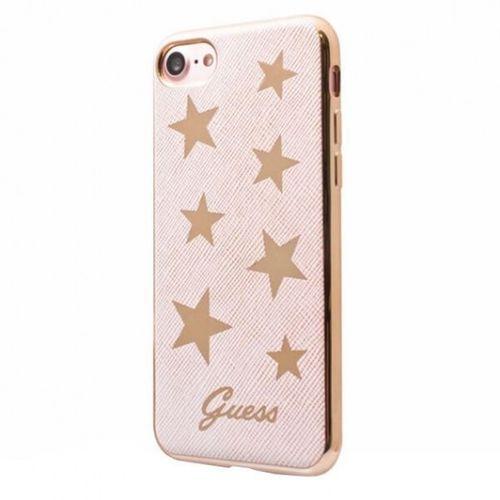 Guess  stars soft case - etui iphone 7 (różowy)