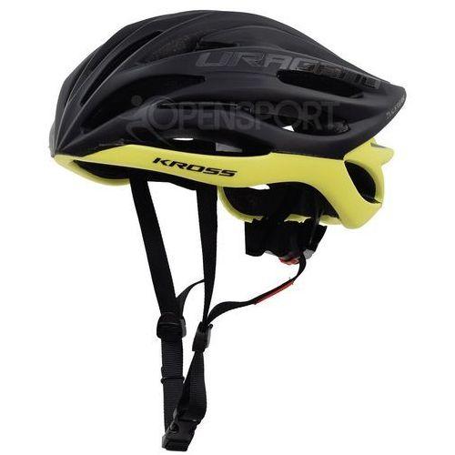 Kross Kask rowerowy uragano l 58-61cm czarny / żółty