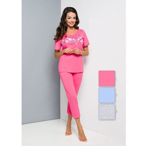 Piżama Regina 855 kr/r 2XL-4XL 4XL, szary/melange jasny. Regina, 2XL, 3XL, 4XL, 1 rozmiar