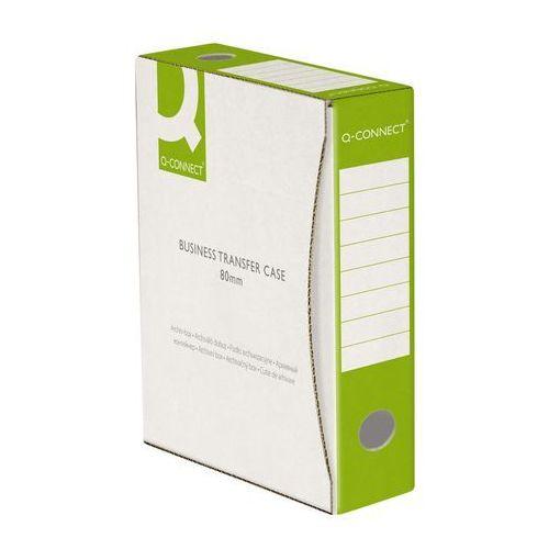 Q-connect Pudło archiwizacyjne , karton, a4/80mm, zielone (5705831158344)