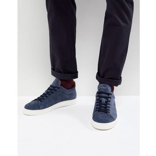 trainers in navy suede with white sole - navy marki Selected homme
