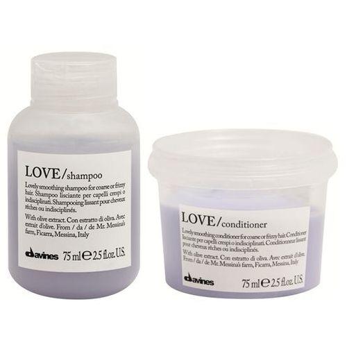 mini zestaw wygładzający love smooth: szampon+odżywka 2x75ml marki Davines