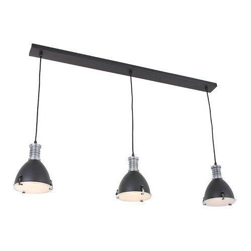 Industrialna lampa wisząca czarna 3-źródła światła - rick marki Steinhauer