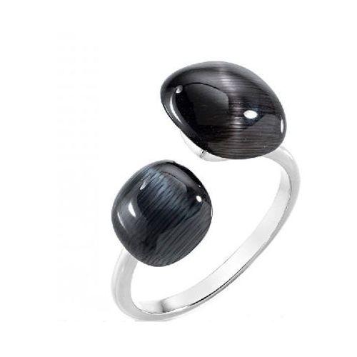 stylowy pierścień ozdobiony kociego oka sakk33 (obwód 54 mm) srebro 925/1000 marki Morellato