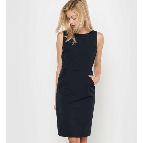 Klasyczna sukienka, serża ze streczem, jednobarwna czarna marki La redoute collections