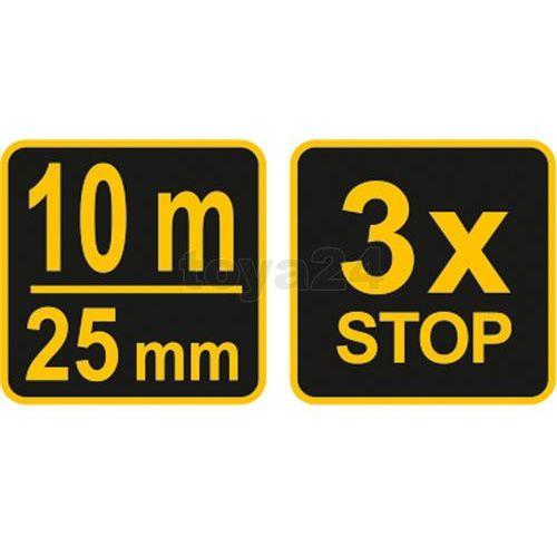 Miara zwijana żółto-czarna 10 m x 25 mm Vorel 10129 - ZYSKAJ RABAT 30 ZŁ, 10129