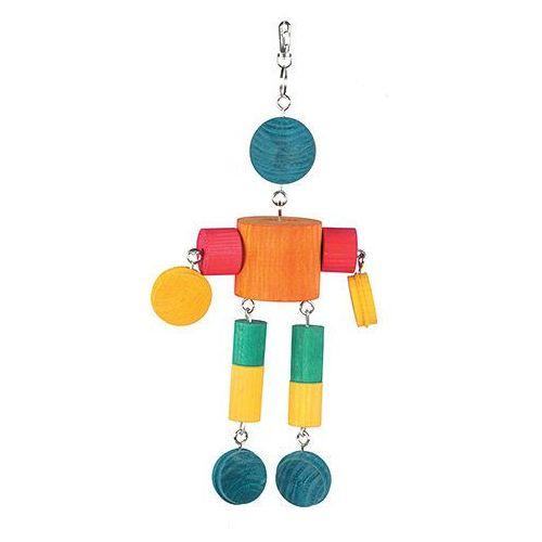 Drewniany ludek - zabawka dla ptaków marki HappyPet