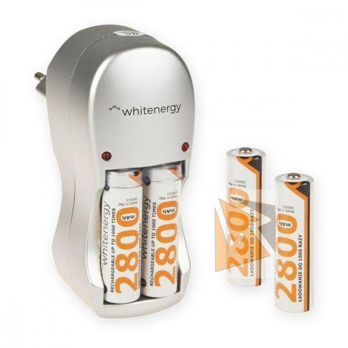 Whitenergy ładowarka do akumulatorów|4xaa/aaa|230v|4xaa 2800mah ni-mh darmowa dostawa do 400 salonów !!