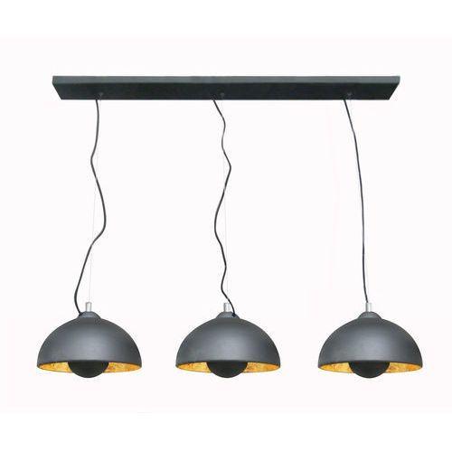 antenne lampa wisząca 3* e27 max 60w black with gold inside ts-120404p-bkgo marki Zumaline