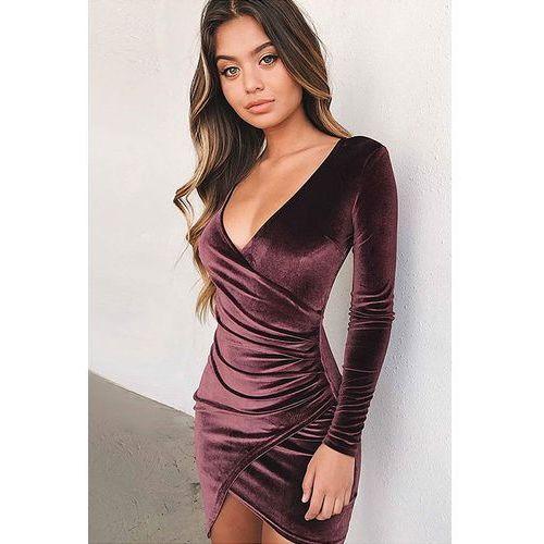 Damska sukienka DANONINA BORDO, kolor czerwony. Najniższe ceny, najlepsze promocje w sklepach, opinie.