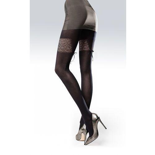 Rajstopy Knittex Elle 3D 50 den 3-M, czarno-bordowy/nero-bordo, Knittex