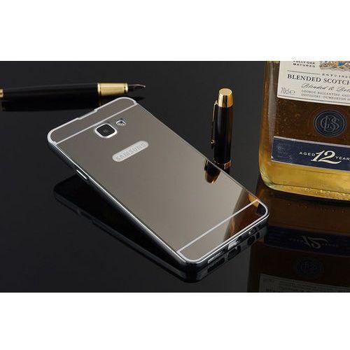 Mirror Bumper Metal Case Czarny | Etui dla Samsung Galaxy A3 (2016) - Czarny - produkt z kategorii- Futerały i pokrowce do telefonów