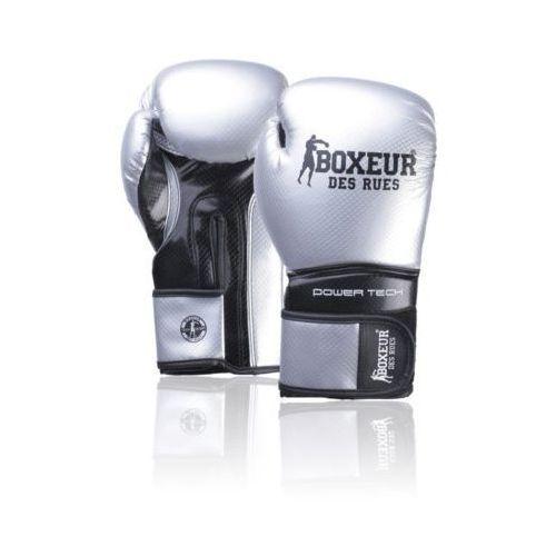 Rękawice bokserskie BOXEUR BXT-5195 Srebrno-czarny (14 oz) DARMOWY TRANSPORT (8058660851281)