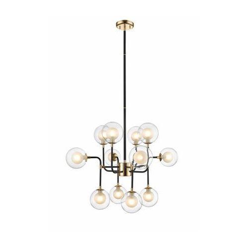 ZUMALINE RIANO P0454-12C-SDGF Lampa wisząca 12x max42W G9, czarny / złoty, P0454-12C-SDGF