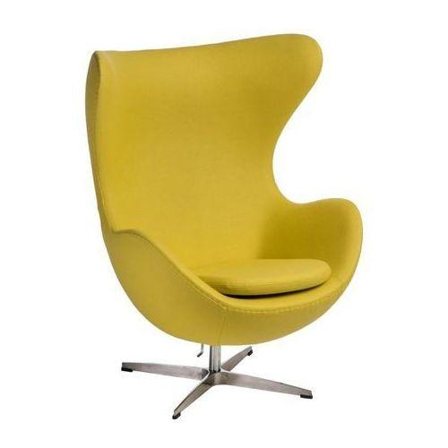 Fotel jajo kaszmir żółty jasny 41premium marki D2design