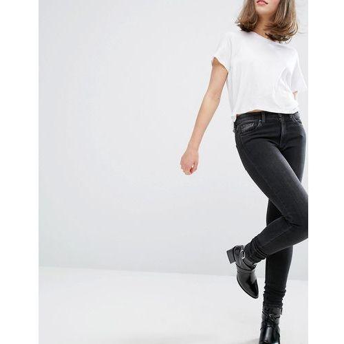 mocki slim mid waist jeans - black marki Monki