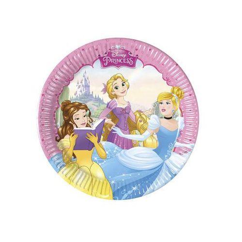 Talerzyki urodzinowe Princess - Księżniczka - 20 cm - 8 szt.