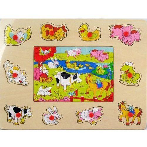 Brimarex Drewniane puzzle zwierzęta gospodarskie