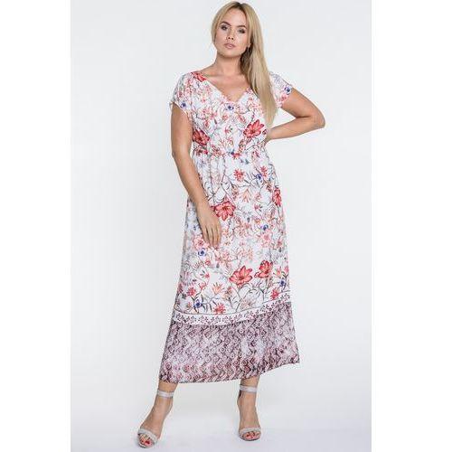 Kwiecista sukienka w długości maxi - marki Vito vergelis