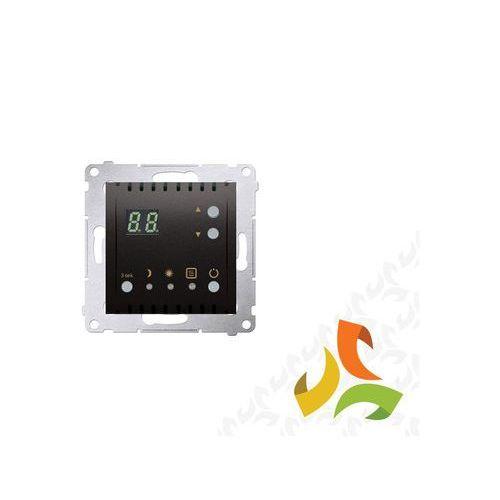 Simon kontakt Regulator temperatury z wyświetlaczem, zewnętrzny czujnik temperatury - sonda 16a, 230v, antracyt mat dtrnw.01/48 simon 54 premium