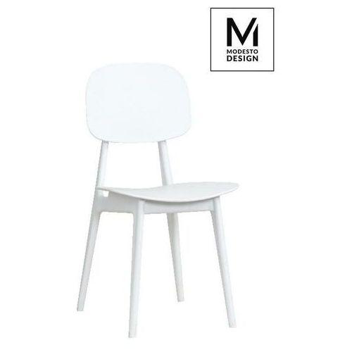 MODESTO krzesło ANDY białe - polipropylen - Biały, kolor biały