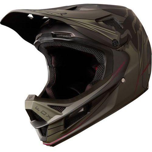 Fox Rampage Pro Carbon Kustom Kask rowerowy Mężczyźni czarny/oliwkowy S   55-56cm 2018 Kaski rowerowe (0884065879005)
