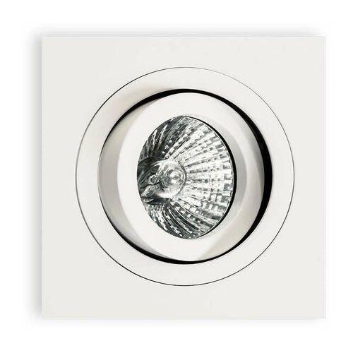 Wpuszczana LAMPA sufitowa Fasto I Bianco Orlicki Design kwadratowa OPRAWA oczko do zabudowy białe
