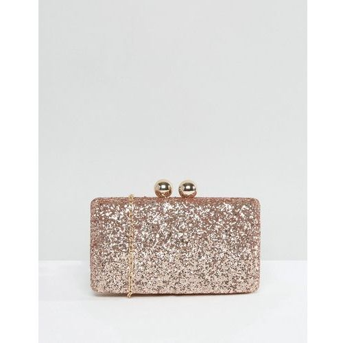 Chi chi london glitter clutch bag - gold