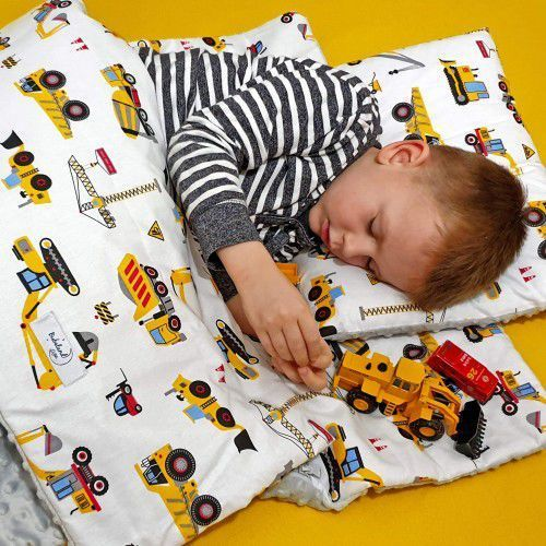 Śpiworek przedszkolaka koparki + worek marki Bubaland