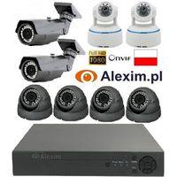 Zestaw ip rejestrator + 8 kamer full hd 1080p marki Alexim