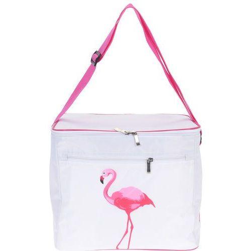 Termiczna torba turystyczna FLAMINGO, biało-różowa kolorystyka, 32x25x27cm, 16l (8719202572803)
