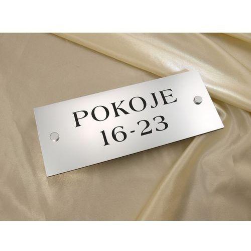 Tabliczki informacyjne - pokoje od do - sz015a - wym. 250x100mm marki Grawernia.pl - grawerowanie i wycinanie laserem