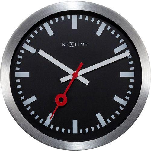 Zegar stojący station czarny cyferblat (3998 stzw) marki Nextime