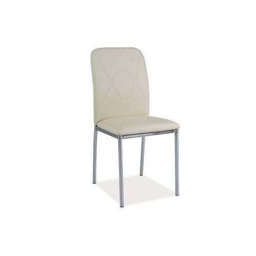 Krzesło H-623 Chrom Kremowy, kolor beżowy