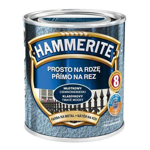Farba prosto na rdzę - efekt młotkowy ciemnoniebieski 0,7l marki Hammerite