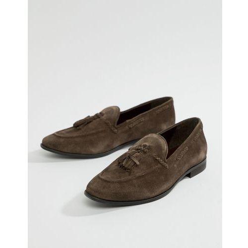 Kg by kurt geiger tassel loafers in brown suede - brown, Kg kurt geiger