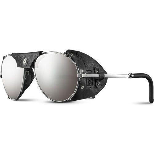 Julbo cham spectron 4 okulary przeciwsłoneczne mężczyźni, silver/black/flash sliver 2020 okulary alpinistyczne (3660576906570)
