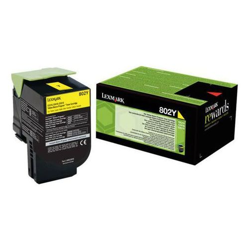 Lexmark toner Yellow 802YE, 80C20YE (return), 80C20YE